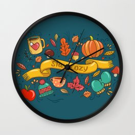 Autumn Is The Time To Stay Cozy Wall Clock