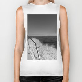 Sailing in the wind through the waves, Boat, Black and White photography #Society6 Biker Tank