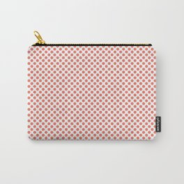Coral Polka Dots Carry-All Pouch