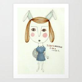 The Great Rabbit Pretender. Art Print