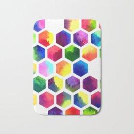 Rainbow Hexagons Bath Mat