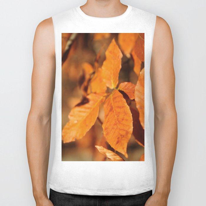 Autumn Leaves Biker Tank