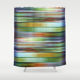 Colorful Metal Ribbons Pattern Shower Curtain
