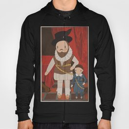 Sir Walter Raleigh Cute Portrait illustration Hoody