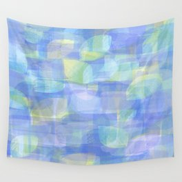 Blue Abstract Wall Tapestry