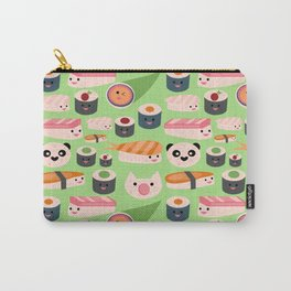 Kawaii sushi green Carry-All Pouch