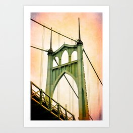 ST. JOHNS BRIDGE - PORTLAND Art Print