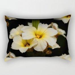 Yellow Mexican Satin Flowers Rectangular Pillow