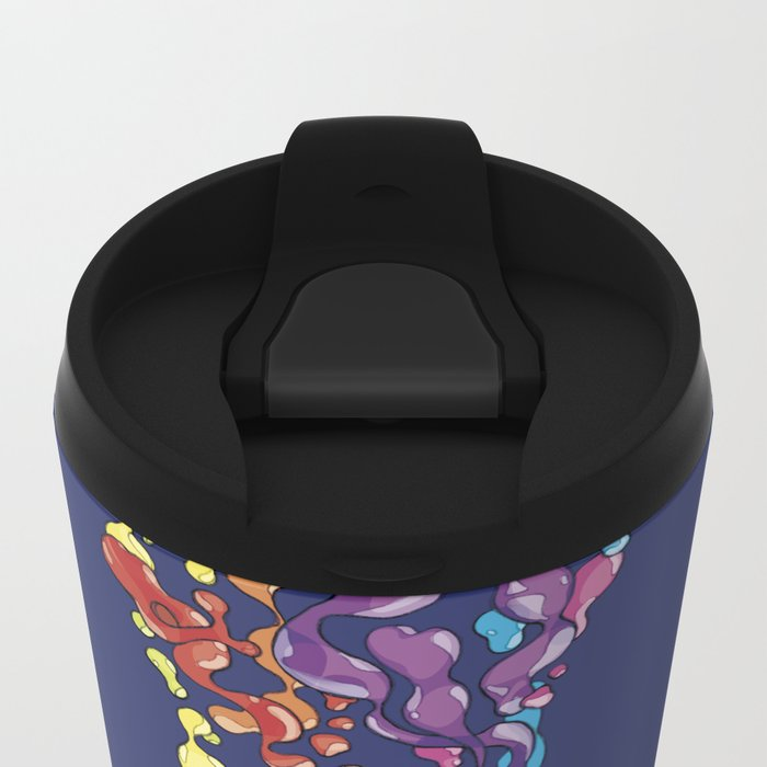 Skull Pepe Psyche Metal Travel Mug