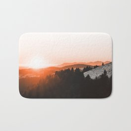 Warm Mountains Bath Mat