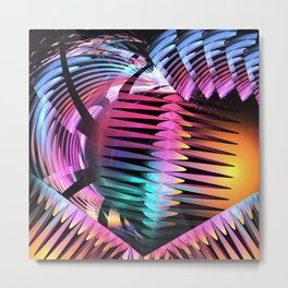 The Grip, colourful abstract Metal Print