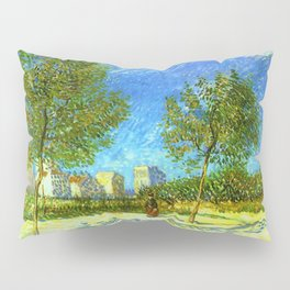 On the Outskirts of Paris by Vincent van Gogh Pillow Sham