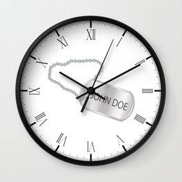 John Doe Dog Tag Wall Clock