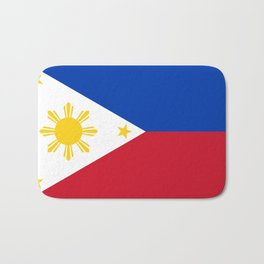 Republic of the Philippines national flag (50% of commission WILL go to help them recover) Bath Mat