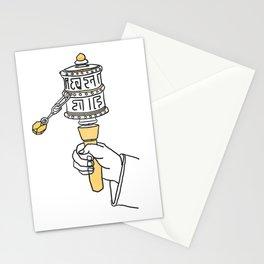 Tibetian prayer wheel Stationery Cards