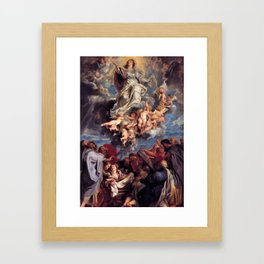 Pieter-Paul Rubens; Assumption of the Devine and Holy Virgin Mary Framed Art Print