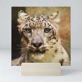 Hope For Tomorrow - Snow Leopard Art Mini Art Print