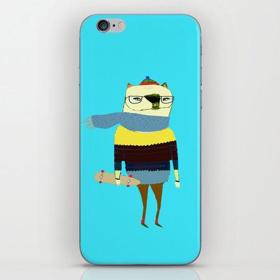 Bear Skateboarder, skateboarding print, skater iPhone & iPod Skin
