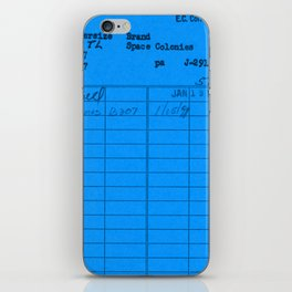 Library Card 797 Blue iPhone Skin