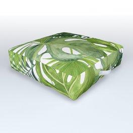 Palm Tree Leaf, Monstera Leaves Outdoor Floor Cushion