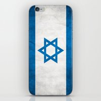israel iPhone & iPod Skins featuring Israel Flag  by Jason Michael