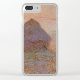 Grainstack, Sun in the Mist by Claude Monet Clear iPhone Case