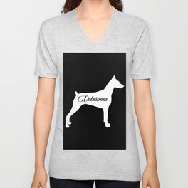 Doberman Unisex V-Neck