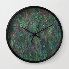 After Anawhata Jungle  Pattern Wall Clock