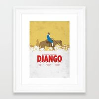 django Framed Art Prints featuring Django by Zhi-Yun