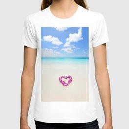 Honeymoon wedding on beach T-shirt