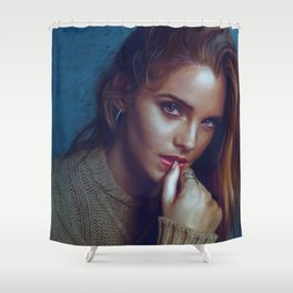 Emma Watson Shower Curtain