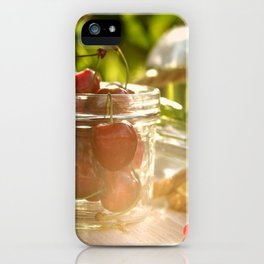 Fresh cherrie in glass iPhone Case