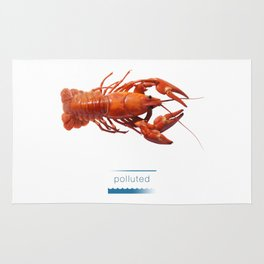 Polluted - Crawfish Lobster Rug