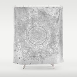 gray splash mandala swirl boho Shower Curtain