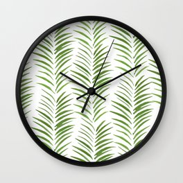 Herringbone Green Nature Pattern Wall Clock