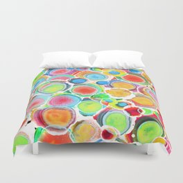 Sunshine on Your Spotty Mind (Alcohol Inks Series 07) Duvet Cover