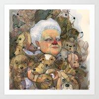 Miss Puppy Art Print