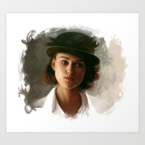Keira Knightley in hat Art Print