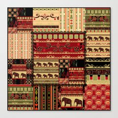 African patchwork. Canvas Print