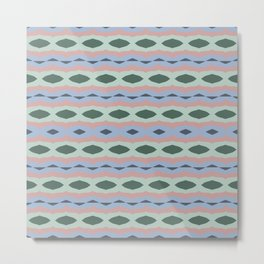 Colorama abstract patterns - vintage smooth Metal Print