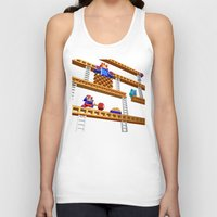 donkey kong Tank Tops featuring Inside Donkey Kong stage 2 by Metin Seven