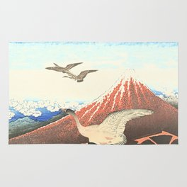 Over the mountain Rug