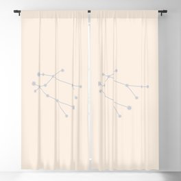Gemini Zodiac Constellation Neutral Blue Blackout Curtain