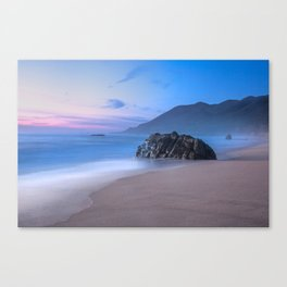 Ocean Tides - Mist Rolls in At Sunset in Big Sur Canvas Print
