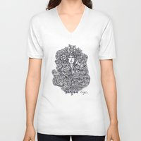 "flora V-neck T-shirts featuring ""Flora"" by Cindy Lysonski - Creative Daydreamzzzz"