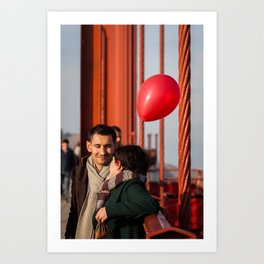 Balloon Love Art Print