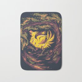 Chocobo with Blossoms Bath Mat