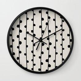 Abstract nobbly black creeper on neutral Wall Clock
