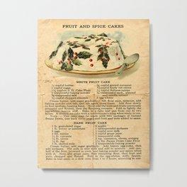 Fruit Cakes - Vintage Metal Print