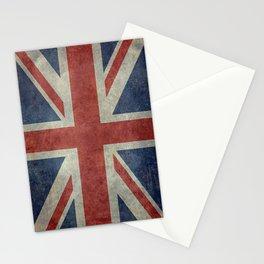 UK Flag, Dark grunge 3:5 scale Stationery Cards